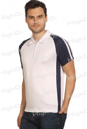 HighO2 Collar T-Shirt with Contrast Sides