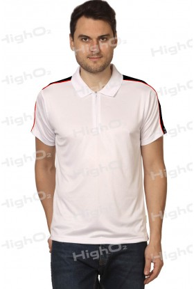 HighO2 Collar T-Shirt with Contrast Shoulders
