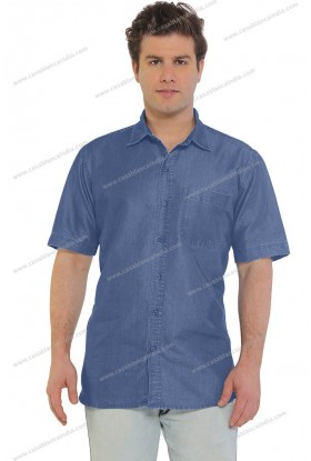 Casablanca Denim Half Sleeve Shirt