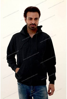Hoodie with full front zipper