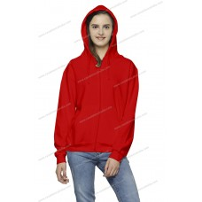 Hoodie with full front zipper.
